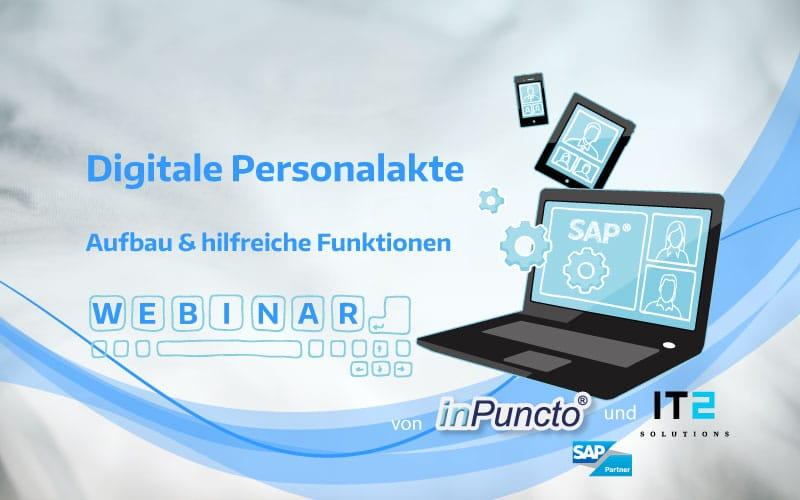 inPuncto kostenloses Webinar: Die SAP-HCM integrierte elektronische Personalakte - Aufbau & Funktionen