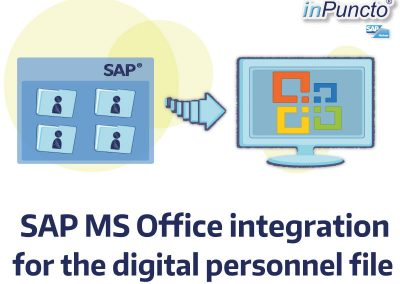 SAP MS Office integration for the electronic personnel file