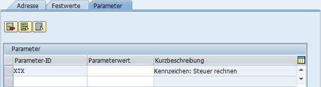 Gezeigt wird das Fenster, in dem der Benutzerparameter geleert werden kann.