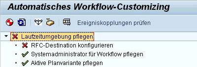 Sie sehen, dass die RFC-Destination nicht konfiguriert ist.