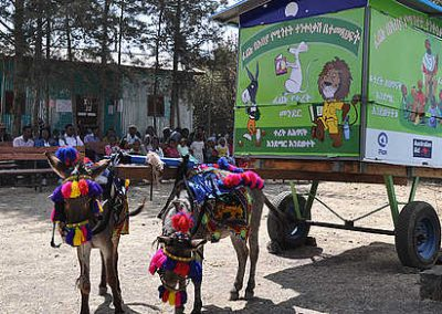 Donkey library in Ethiopia-inPuncto social commitment