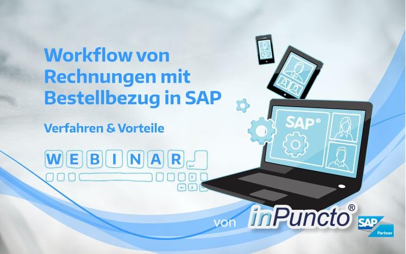 """Kostenfreies Web-Seminar von inPuncto zum Thema """"Automatisierte Rechnungsverarbeitung in SAP"""""""