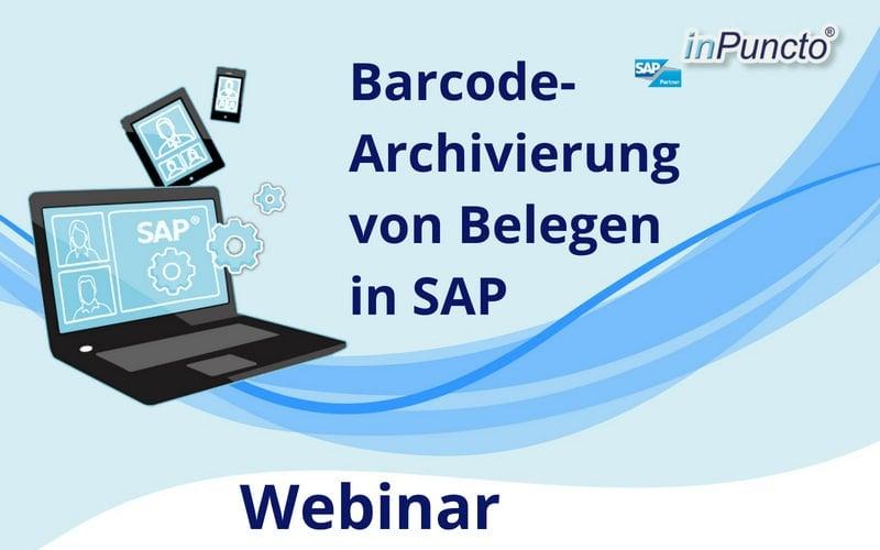 Kostenloses Webinar: Barcodearchivierung von Belegen in SAP
