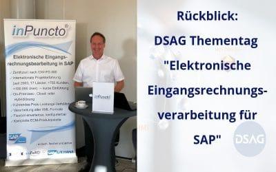 """DSAG Thementag """"Elektronische Eingangsrechnungsverarbeitung für SAP"""" war ein voller Erfolg!"""