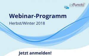 Kostenlose Webinare von inPuncto Herbst-Winter 2018