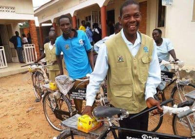 Fahrräder für Gesundheitshelfer in Uganda