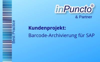 """Einführung der Lösung """"Spätes Archivieren in SAP mit dem Barcodeverfahren"""" bei einem Energiedienstleister"""