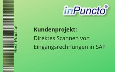 Direktes Scannen von Eingangsrechnungen in SAP mit der inPuncto Scan-Applikation