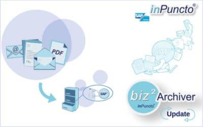Update der inPuncto Archivierungssoftware für SAP
