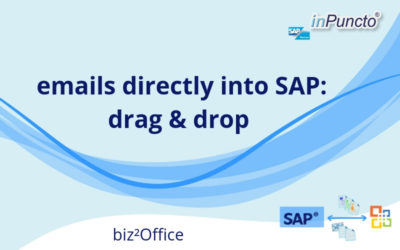 Move emails directly from Outlook to SAP using drag and drop
