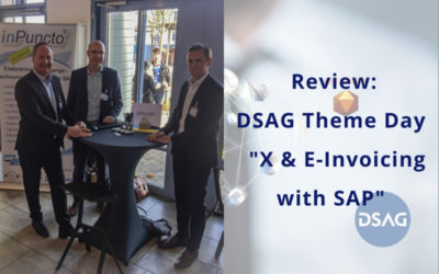 """DSAG Theme Day """"X & E-Invoicing with SAP"""": inPuncto participates as an exhibitor"""