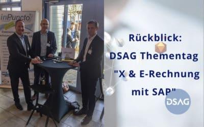 """DSAG-Thementag """"X- & E-Rechnung mit SAP"""": inPuncto nimmt als Aussteller teil"""